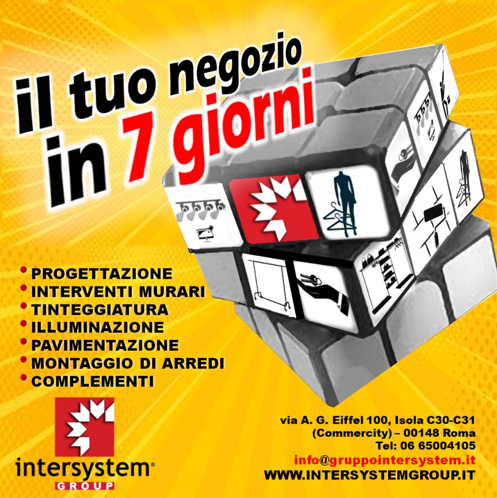 Intersystem Group - Ristrutturazione negozi in 7 gg - Commercity