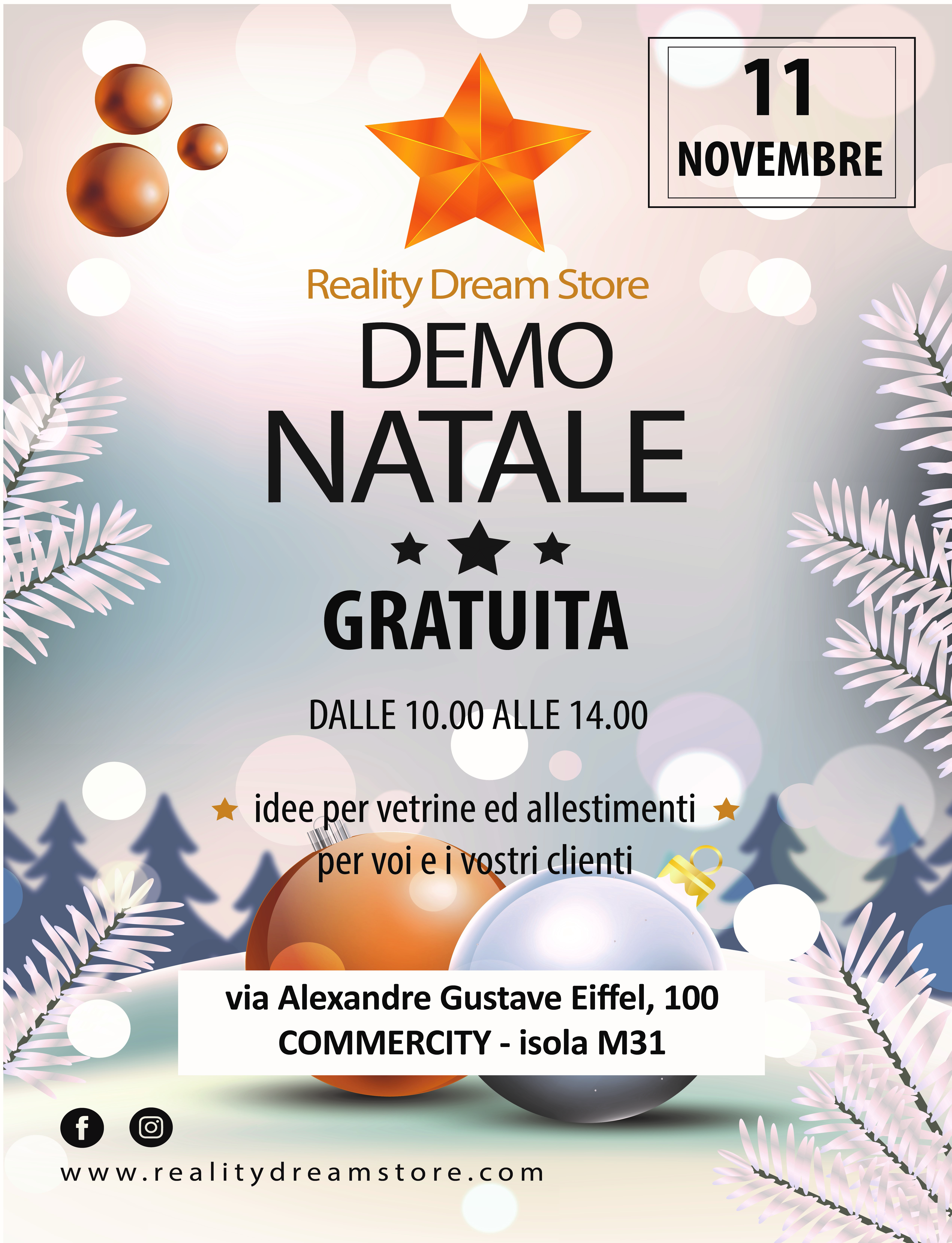 DEMO NATALE 2019 - Reality Dream Store - Commercity